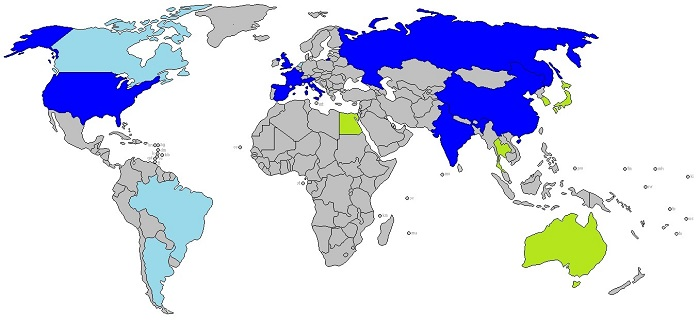 Countries who are currently or have in the past operated aircraft carriers